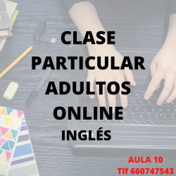 CLASE PARTICULAR ADULTO INGLÉS